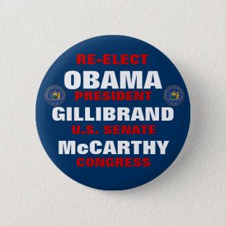 Badges New York pour Obama Gillibrand McCarthy