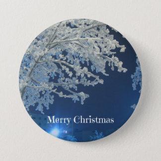 Badges Noël blanc d'hiver