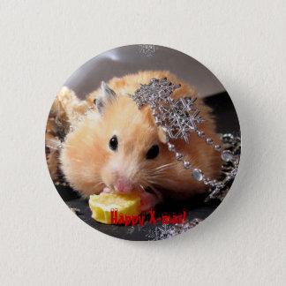 Badges Noël heureux de hamster !