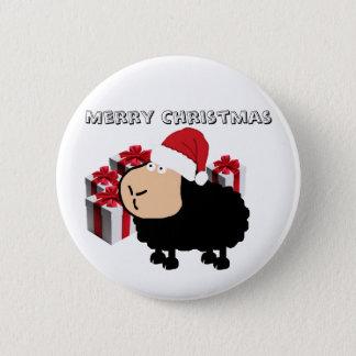Badges Noël mignon drôle de moutons de bande dessinée de