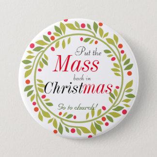 Badges Noël religieux vont au bouton d'église