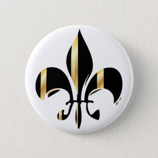 Badges Noir et Gold Fleur de Lis