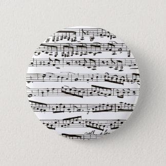 Badges Notes musicales noires et blanches