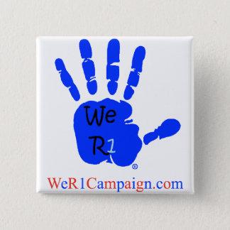 Badges Nous bouton bleu de la main R1
