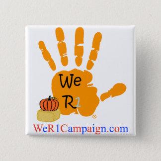 Badges Nous bouton orange de la main R1 (de Halloween)