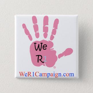 Badges Nous bouton rose de la main R1