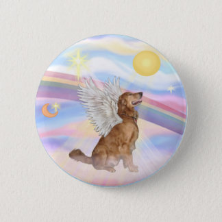 Badges Nuages - ange de golden retriever (profil)