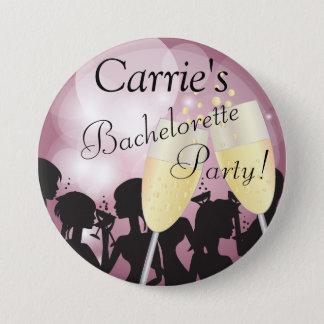 Badges Nuit de filles de diva de Bachelorette de rose de
