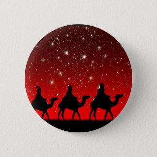Badges Nuit rouge de Lite d'étoile de ciel de sages de