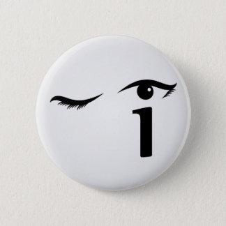 Badges Observez cligner de l'oeil avec la lettre i