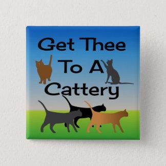 Badges Obtenez Thee à un bouton de pension pour chats