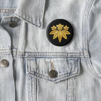 Badges Or japonais de faux de Kamakura Minamoto lundi sur