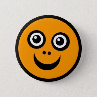 Badges Orange drôle de visage (colorez-moi) -