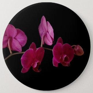 Badges Orchidée rose de Dendrobium - fleurs customisées