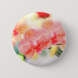 Badges Orchidées d'aquarelle