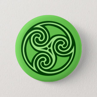 Badges Ornement, chaux et vert-foncé de Triskele de