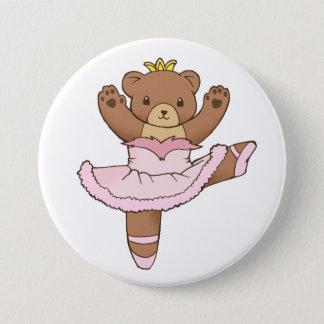 Badges Ours de ballerine dans le bouton rose de tutu