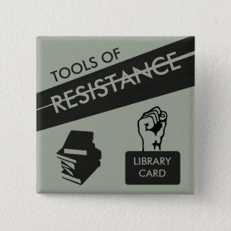 Badges Outils de résistance : Carte et livres de