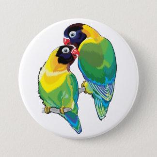 Badges paires de perruches masquées