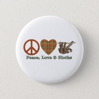 Badges Paix, amour et paresses