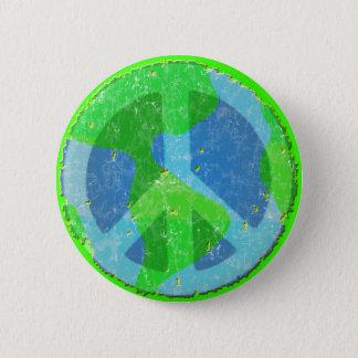 Badges Paix sur le bouton de la terre