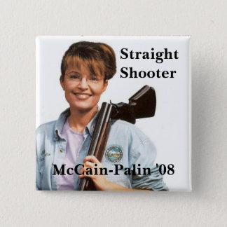 Badges Palingun, McCain-Palin '08, tireur, directement
