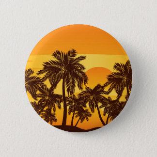 Badges Palmier au coucher du soleil