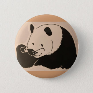 Badges Panda frais avec des nuances