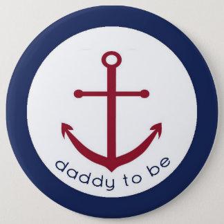 Badges Papa nautique d'ancre à être bouton