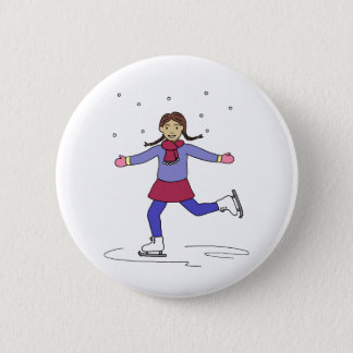 Badges Patineur artistique de fille de patinage de glace