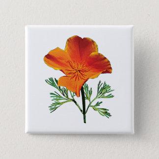 Badges Pavot de Californie orange