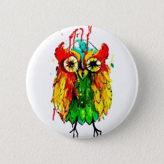 Badges Peinture lumineuse de couleur de hibou d'encre de