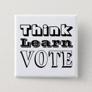 Badges Pensez, apprenez, votez