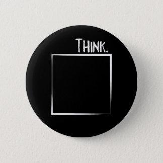Badges Pensez en dehors de la typographie de coquille de