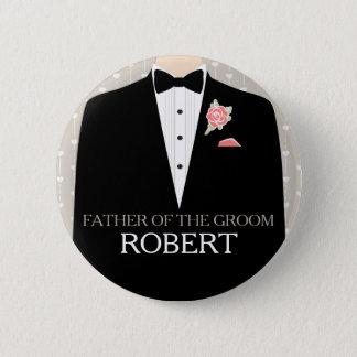 Badges Père du bouton de goupille de mariage de nom de