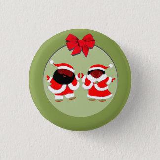 Badges Père Noël et Mme Claus
