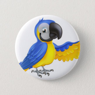 Badges Perroquet bleu et jaune mignon