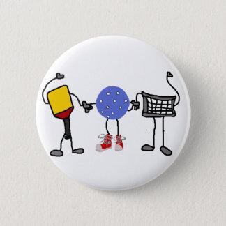 Badges Personnages de dessin animé drôles de Pickleball