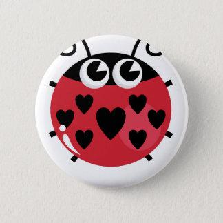 Badges Petite abeille mignonne avec les points noirs