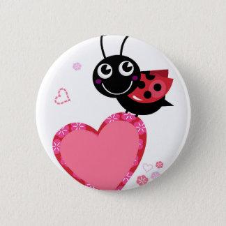 Badges Petite abeille mignonne rouge avec des points