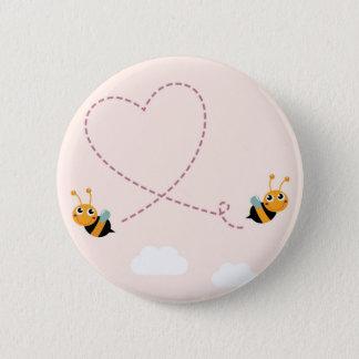 Badges Petites abeilles merveilleuses avec le coeur