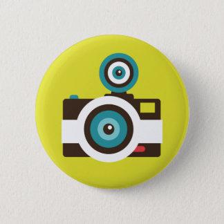 Badges Photographe coloré d'appareil-photo de FishEye