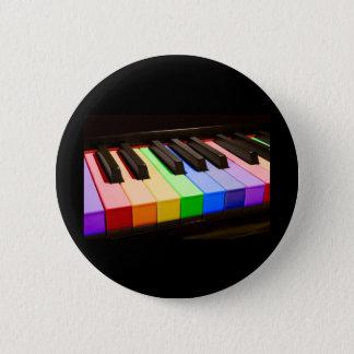 Badges Piano d'arc-en-ciel