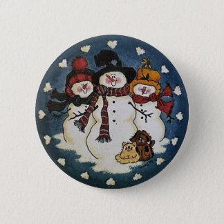 Badges Pin de bouton de bonhomme de neige d'amis de neige