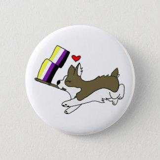 Badges Pin de corgi de fierté de Nonbinary