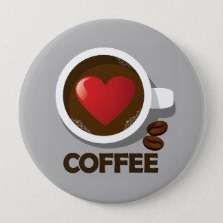 Badges Pin de tasse de café de coeur