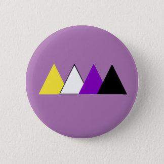 Badges Pin de triangle de fierté de Nonbinary