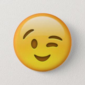 Badges Pin d'Emoji de clin d'oeil