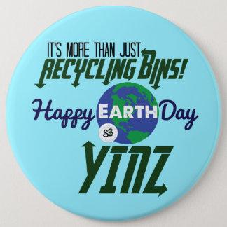 Badges Pin méga de bouton de Yinz de jour de la terre