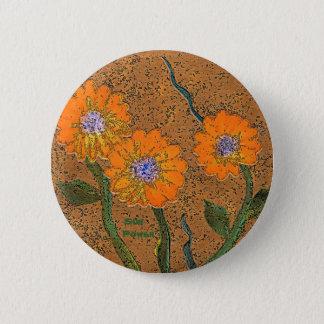 Badges Pin orange de fleur de puissance de Sun